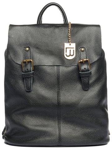 """Lucca Baldi Skórzany plecak """"Montichiari"""" w kolorze czarnym - 31 x 37 x 15 cm"""