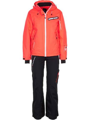 Peak Mountain 2-delige ski-/snowboardoutfit koraalrood/zwart