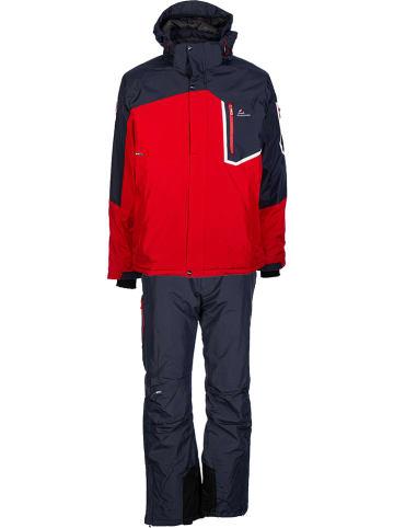 Peak Mountain 2tlg. Ski-/ Snowboardoutfit in Rot/ Schwarz