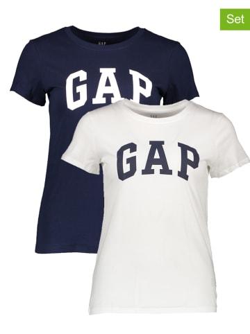 GAP 2-delige set: shirts donkerblauw/wit