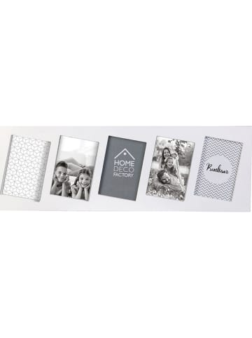 THE HOME DECO FACTORY Ramka w kolorze białym na zdjęcia - 59,5 x 19,7 x 1,8 cm