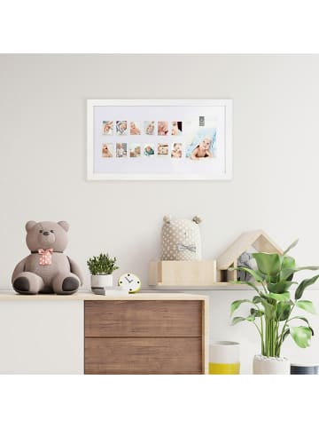 THE HOME DECO FACTORY Ramka w kolorze białym na zdjęcia - 40 x 22 x 2 cm