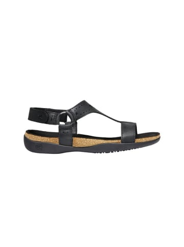 """Keen Leren sandalen """"Kaci Ana T"""" zwart"""