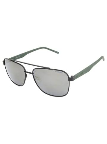 """Polaroid Okulary przeciwsłoneczne """"2044/S"""" w kolorze czarno-oliwkowo-srebrnym"""