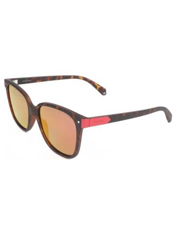 """Polaroid Okulary przeciwsłoneczne """"6036/S"""" w kolorze pomarańczowo-brązowo-czerwonym"""