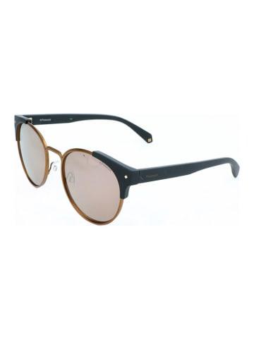 """Polaroid Okulary przeciwsłoneczne """"6038/S/X"""" w kolorze czarno-złoto-jasnoróżowym"""