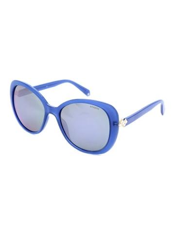 """Polaroid Okulary przeciwsłoneczne """"4063/S/X"""" w kolorze niebiesko-jasnoróżowym"""