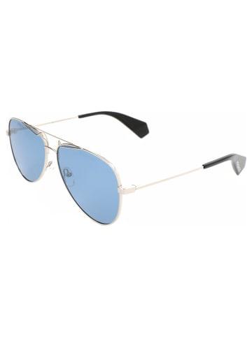 Polaroid Damskie okulary przeciwsłoneczne w kolorze niebiesko-złotym