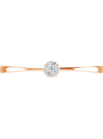 Vittoria Jewels Roségouden ring met diamanten