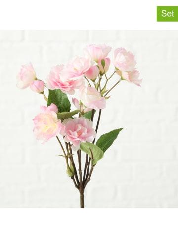 """Boltze 2-delige set: decoratieve bloemen """"Julana"""" lichtroze - (L)30 cm"""