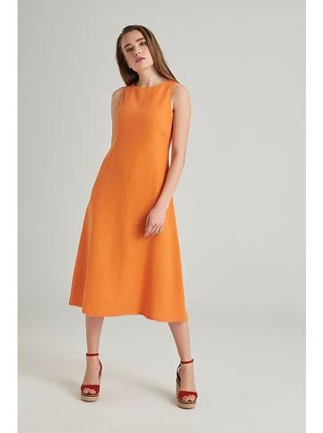 Mexx Linnen jurk oranje