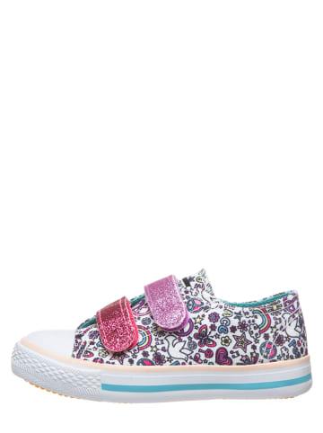 Billowy Sneakersy w kolorze białym ze wzorem