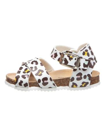Billowy Sandały w kolorze białym ze wzorem