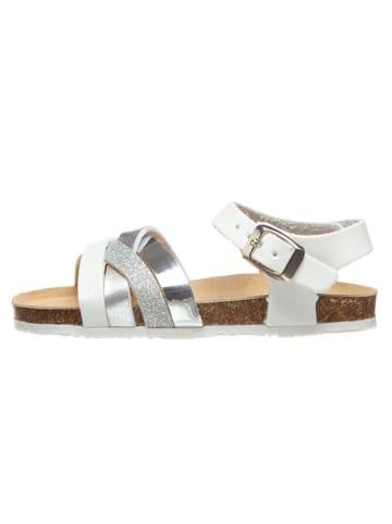 Billowy Sandały w kolorze biało-srebrnym