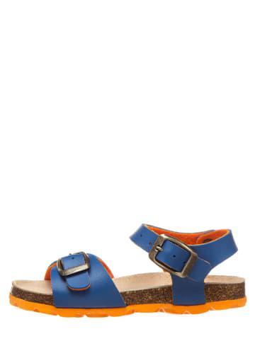 Billowy Sandały w kolorze niebiesko-pomarańczowym