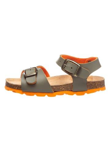Billowy Sandały w kolorze oliwkowo-pomarańczowym