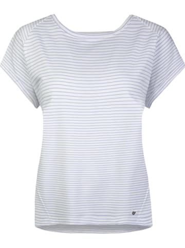 SHORT STORIES Koszulka piżamowa w kolorze biało-niebieskim