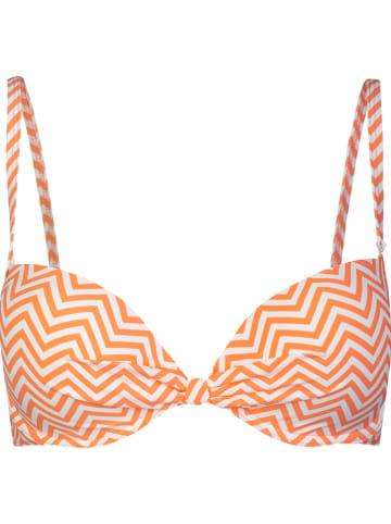 SHORT STORIES Biustonosz bikini w kolorze pomarańczowo-białym
