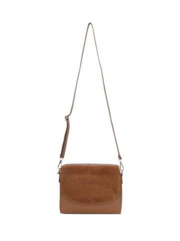 Wojas Skórzana torebka w kolorze jasnobrązowym - (S)22,5 x (W)17 x (G)6 cm