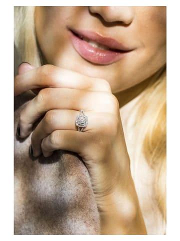 """DIAMOND & CO Weißgold-Ring """"Rosie"""" mit Diamanten"""