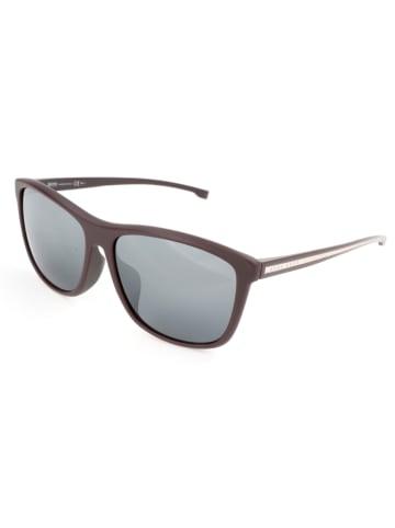 Hugo Boss Damen-Sonnenbrille in Dunkelbraun/ Grau
