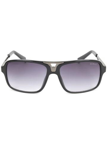 Guess Herren-Sonnenbrille in Schwarz-Silber/ Lila