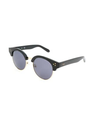 Guess Damskie okulary przeciwsłoneczne w kolorze czarno-niebiesko-złotym