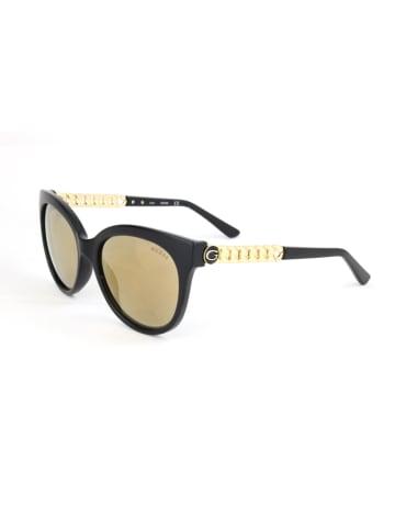 Guess Damen-Sonnenbrille in Schwarz-Gold/ Gelb