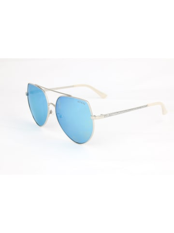 Guess Damen-Sonnenbrille in Gold/ Blau-Grün