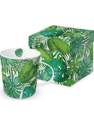 "Ppd Kubek jumbo ""Feuilles Tropicales"" w kolorze zielonym - 350 ml"