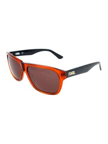 Karl Lagerfeld Herenzonnebril rood-zwart/bruin