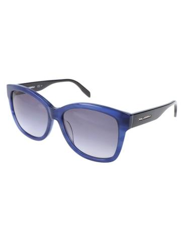 Karl Lagerfeld Damskie okulary przeciwsłoneczne w kolorze niebiesko-czarno-szarym