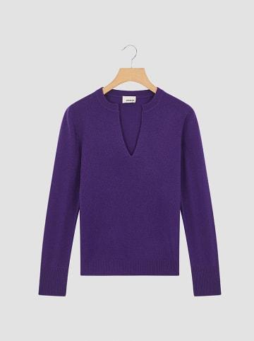 Rodier Kaszmirowy sweter w kolorze fioletowym