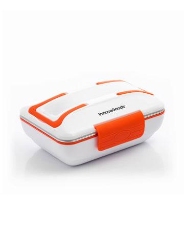 InnovaGoods Elektryczny pojemnik w kolorze biało-pomarańczowym na lunch - 1 l