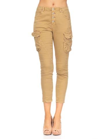 Tantra Spodnie w kolorze beżowym