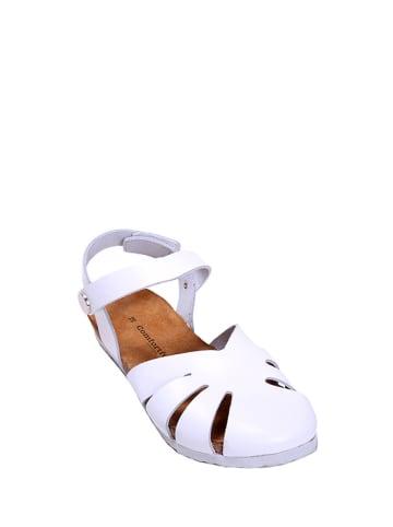 Comfortfusse Skórzane półsandały w kolorze białym