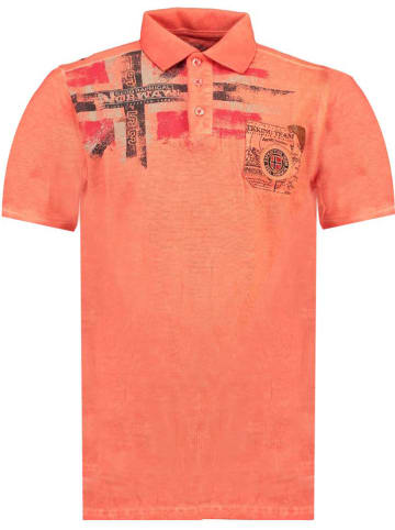 """Geographical Norway Poloshirt """"Kamo"""" koraalrood"""