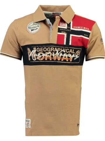 """Geographical Norway Koszulka polo """"Kidney"""" w kolorze beżowym"""