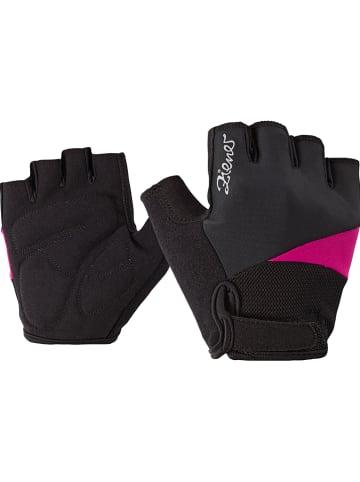 """Ziener Rękawiczki kolarskie """"Chrisa"""" w kolorze różowo-czarnym"""