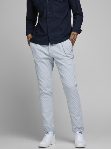 "Jack & Jones Chinobroek ""Ace Milton"" lichtblauw/wit"