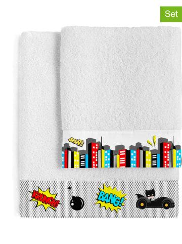 """Mr. Fox Ręczniki (2 szt.) """"Bat"""" w kolorze białym ze wzorem"""