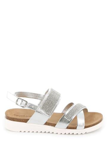 Grünland Junior Leren sandalen zilverkleurig