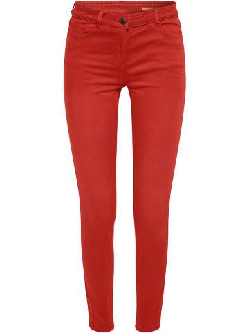 ESPRIT Spodnie w kolorze czerwonym