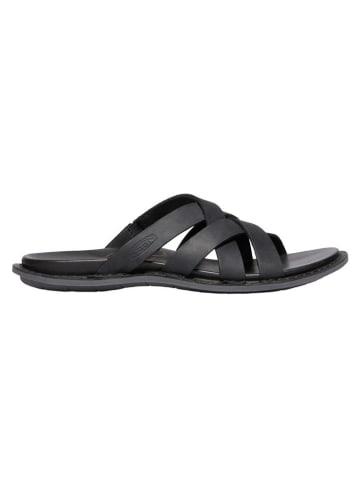 """Keen Leren slippers """"Sofia Slide"""" zwart"""