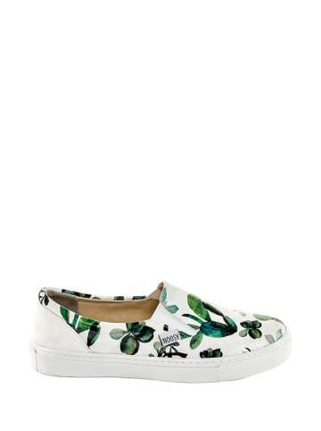 Noosy Slippersy w kolorze biało-zielonym