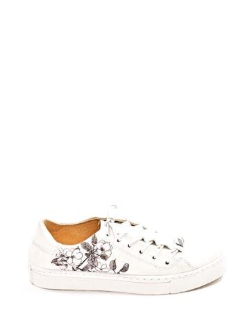 Noosy Sneakersy w kolorze białym ze wzorem