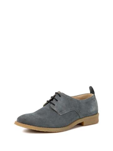 REDFOOT Leder-Schnürschuhe in Grau