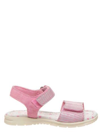 Pio Skórzane sandały w kolorze jasnoróżowym
