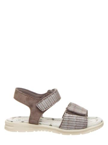 Pio Skórzane sandały w kolorze brązowym