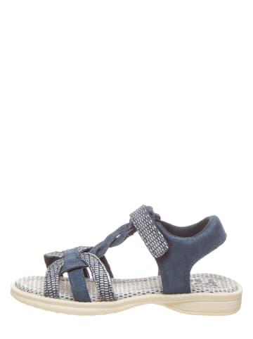 Pio Leren sandalen blauw
